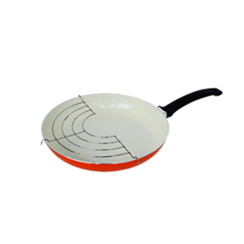 Jual Penggorengan Ceramic FINCOOK CFP2603RO Orange 26Cm Rak