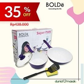 Jual BOLDE SUPER PAN SET PURPLE 5 PCS