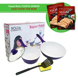 Jual BOLDE SUPER PAN SET PURPLE 5 PCS ( FREE BUKU EASY FOR MOM)
