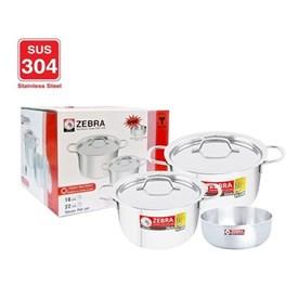 Jual Panci Cookware Set ZEBRA Extreme Plus 185238