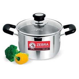 Jual Panci Sauce Pot ZEBRA With Glass Lid Cesar 169611 18cm