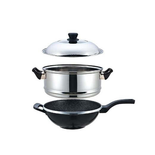 Jual Panci Steam SIGNORA New Wok 32cm