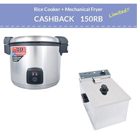 Jual Mechanical Fryer WISE WFT 8L dan ELECTRIC RICE COOKER WISE CFXB138-195XG-A