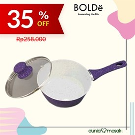 Jual Panci Saucepan BOLDE 18cm + Glass LID Purple Granite Series