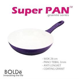 Jual Wajan dan Penggorengan BOLDE 26cm Granite Purple Series