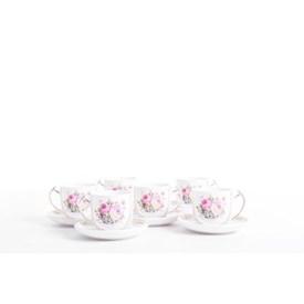 Jual Cangkir Tea Cup Biru Muda CAPODIMONTE 6set