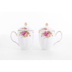 Jual Mug Rose Garden CAPODIMONTE 2pcs
