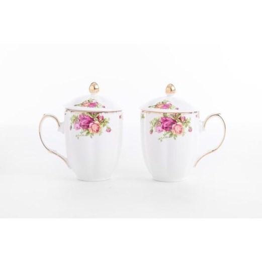 Mug Rose Garden CAPODIMONTE 2pcs