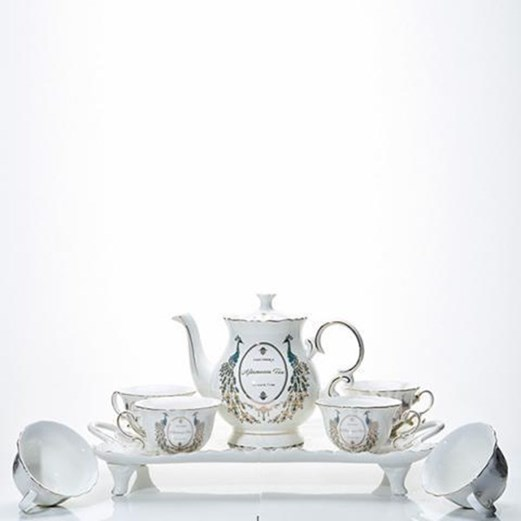 Jual Tea Set Keramik Motif Merak CAPODIMONTE LSH-184