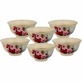 Jual Mangkuk Keramik CAPODIMONTE Burgundy Rose RLS15481-XH864
