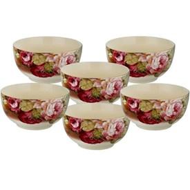 Jual Mangkuk Keramik CAPODIMONTE Burgundy Rose RLS17282-XH852