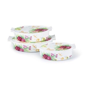 Jual Casserole Oval CAPODIMONTE Garden Party 3pcs