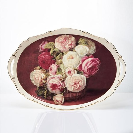 Jual Nampan CAPODIMONTE Red Rose