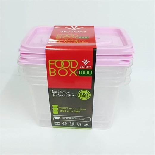 Wadah Penyimpanan Makanan VICTORY Pink 1000ml