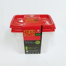 Jual Wadah Penyimpanan Makanan VICTORY Red 1000ml