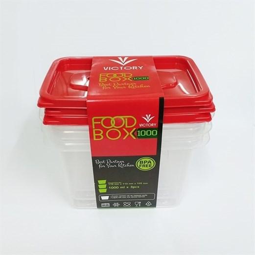 Wadah Penyimpanan Makanan VICTORY Red 1000ml