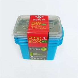Jual Wadah Penyimpanan Makanan VICTORY Grey Blue 1000ml