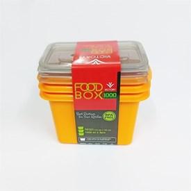 Jual Wadah Penyimpanan Makanan VICTORY Grey Orange 1000ml
