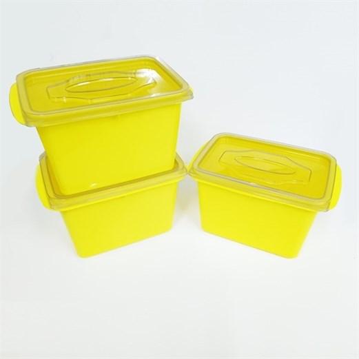 Wadah Penyimpanan Makanan VICTORY Grey Yellow 1000ml