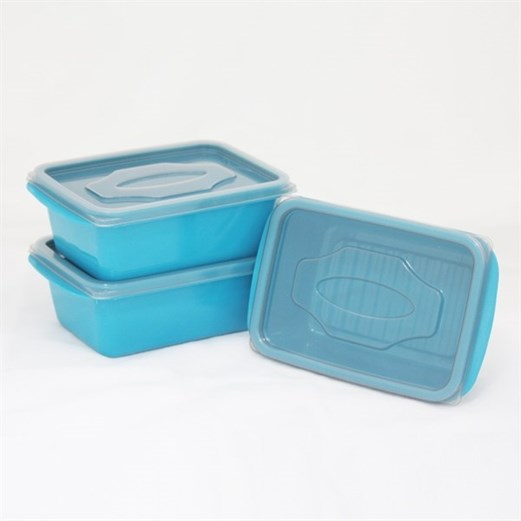 Kotak Makan VICTORY Grey Blue 500ml