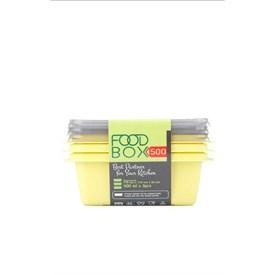 Jual Kotak Makan VICTORY Grey Yellow 500ml