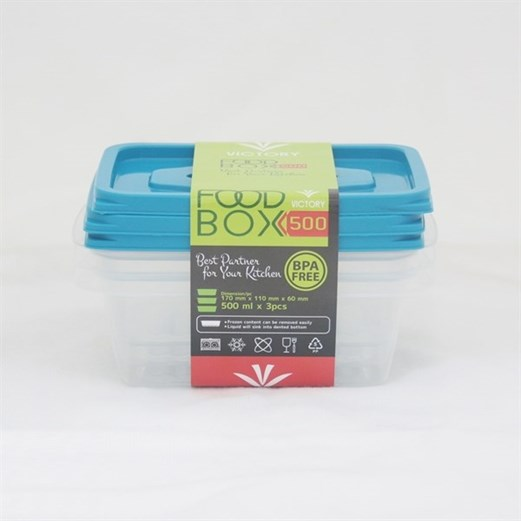 Kotak Makan VICTORY Blue 500 ml
