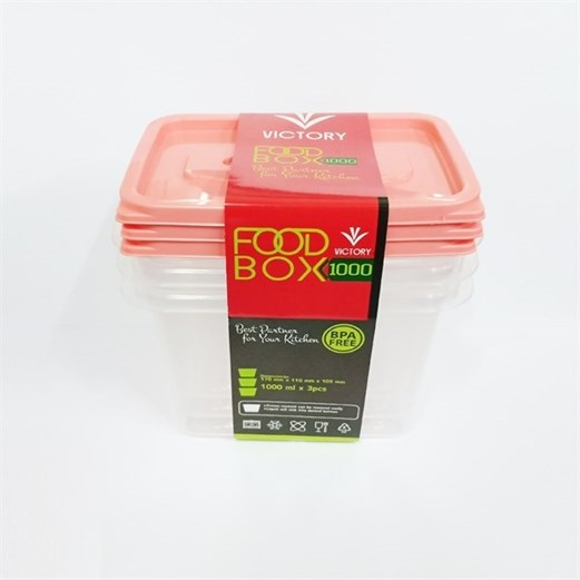 Kotak Makan VICTORY Peach 500 ml