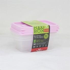 Jual Kotak Makan VICTORY Pink 500 ml
