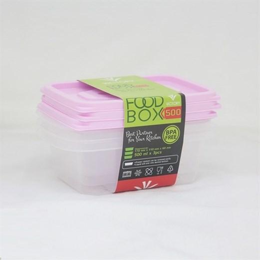 Kotak Makan VICTORY Pink 500 ml