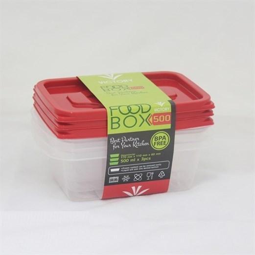 Kotak Makan VICTORY Red 500 ml
