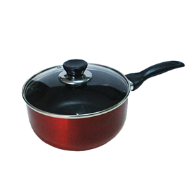 Jual Panci Sauce Pan VIERA Non Stick With Glass Lid 16cm TMS99-593