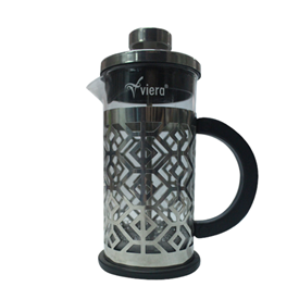 Jual Teko VIERA Glass Coffee and Tea Plunger TMS62-026 600ml