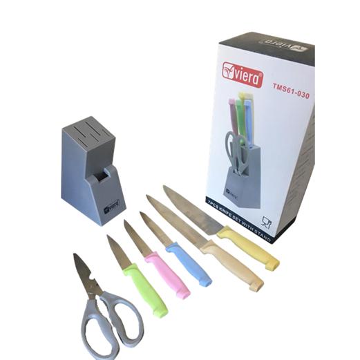 Pisau Kitchen Knife With Scissor Set VIERA 7pcs TMS61-030