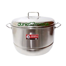 Jual Panci Sauce Pot ZEBRA With Steaming Plate 161051