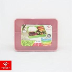 Jual Kotak Makan Catering VICTORY Lunch Box 5 Sekat - Merah