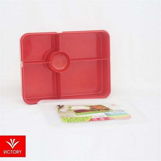 Kotak Makan Catering VICTORY Lunch Box 5 Sekat - Merah