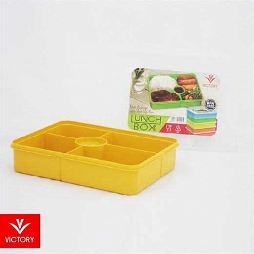 Kotak Makan Catering VICTORY Lunch Box 5 Sekat - Kuning