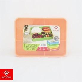 Jual Kotak Makan Catering VICTORY Lunch Box 5 Sekat - Orange