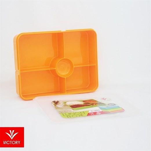 Kotak Makan Catering VICTORY Lunch Box 5 Sekat - Orange
