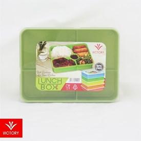 Jual Kotak Makan Catering VICTORY Lunch Box 5 Sekat - Green