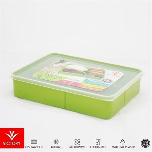Kotak Makan Catering VICTORY Lunch Box 5 Sekat - Green