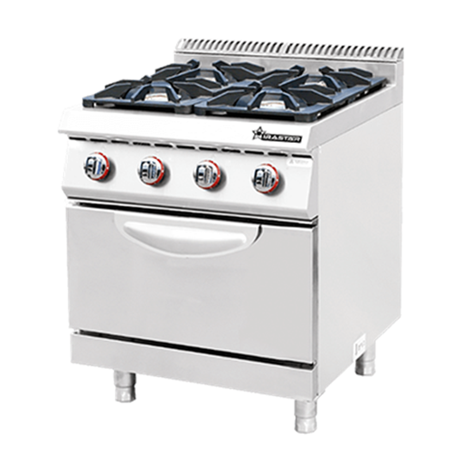 Jual Kompor Standing Commercial Gas 4 Burner With Oven WIRATECH CKB-700GO