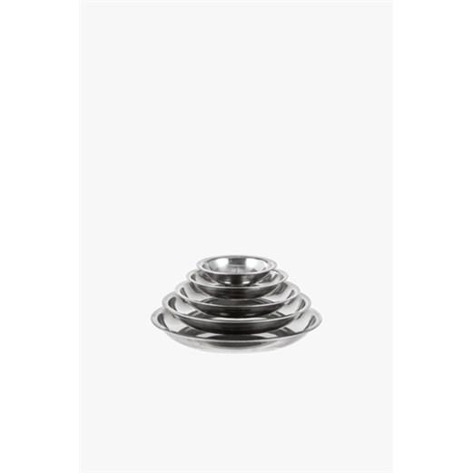 Jual Serving Plate - Piring Saji Stainless Steel MEIWA 18cm - MW-PL1201-SS1801 - 6pcs