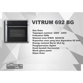 Jual Oven Electric DIAMANTE VITRUM 692BG