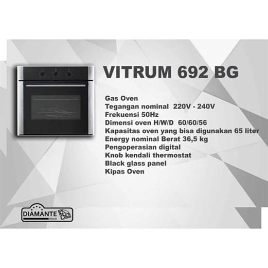 Jual Oven Electric DIAMANTE VITRUM 692BG