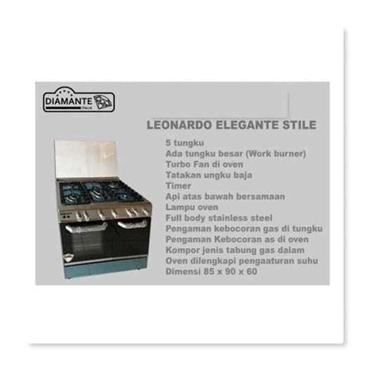 DIAMANTE Freestanding Cooker - Leonardo Elegante Stile