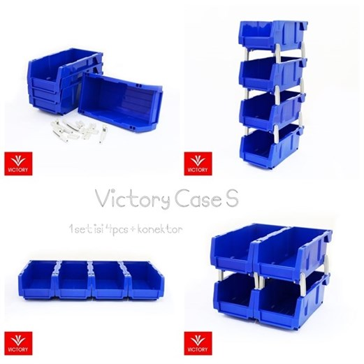 Wadah Penyimpanan VICTORY Part Case Small Set Of 4