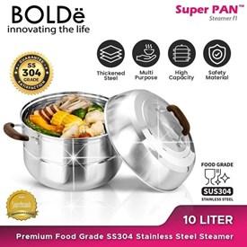 Jual Panci BOLDE Super PAN SS 304 Stainless Steel STEAMER 10 Liter