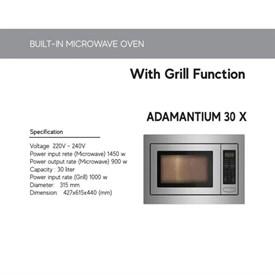 Jual Built In Microwave Oven CATRISTO ADAMANTIUM 30 X