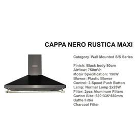 Jual Penghisap Asap Dapur CATRISTO Cappa Rustica Nero Maxi